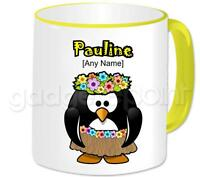 Personalised Gift Hawaiian Penguin Coffee Tea 11oz Mug Any Name Any Message Cup