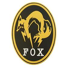 Metal Gear Solid Fox Hound PS4 PVC 3D cosplay rubber Ground touch fastener patch