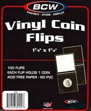 (100)   BCW 2x2 DOUBLE POCKET VINYL FLIP - INSERT LOTN
