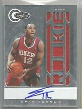 10-11 Totally Certified Basketball Evan Turner Auto Jersey Rookie Card /599 CSC