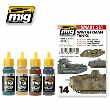 MIG PRODUCTIONS A.MIG7144 - SMART SET WWI GERMAN TANKS - NUOVO