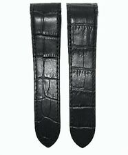 23MM BLACK LEATHER BAND STRAP FOR CARTIER SANTOS 100XL 38MM