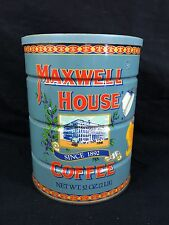 Vintage light blue Maxwell House Coffee Tin 2 lb General Store Advertising