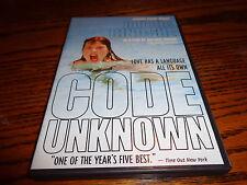 Code Unknown DVD Juliette Binoche & Thierry Neuvic Director: Michael Haneke