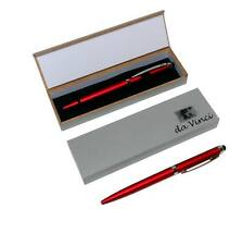 Lot of 48 Sets - Red Matte Finish Plastic Stylus Pens in Gift Boxes