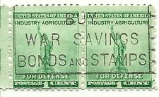 Industry Agriculture For Defense 1 cent  US Postage Stamps GREAT CANCEL!!!