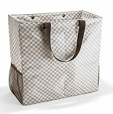 DDS12 Thirty-One Bag Room For Two Utility Tote - Taupe Gingham
