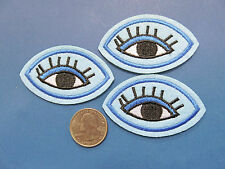 """Hipster Style 2.5 BY 1.5"""" EYE CHARM applique  IRON ON  SEW ON embroidered PATCH"""