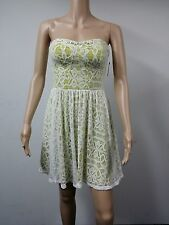 NEW FAST to AUS - Guess Size 2 - Strapless Lace Knee Length Dress - Pattern $148