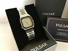 Seiko Pulsar Y951-5009 World Time with LCD Map Display Quartz LCD LED Watch