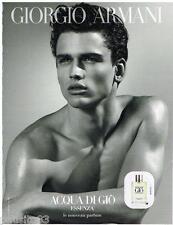 PUBLICITE ADVERTISING 105 2012  GIORGIO ARMANI  parfum homme  AUQUA DI GIO
