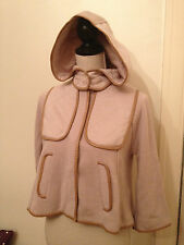 H&M Beige 'Oatmeal' (Removable) Hooded Knit and Padded Jacket. Size 6-8 (EUR 32)