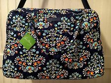 Vera Bradley WEEKENDER CHANDELIER FLORAL Travel Bag Tote Overnight Duffel Navy