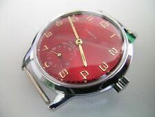 UNITAS 6325 -  Uhrgehäuse mit rotem Zifferblatt + Zeiger