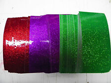 "Vinyl self adhesive glitter flake 3""x6""x5mil 126 shts 3 colors see pics&descrip"