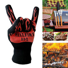 1X932°F Heat Resistant Proof Cooking Oven Mitt Glove Hot Kitchen BBQ Grill Glove