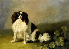 Oil painting jacob philipp hackert - a king charles spaniel in a landscape dog