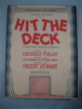 Sometimes Im Happy Sheet Music Vintage 1927 Hit The Deck By Vincent Youmans (O)