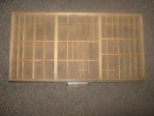Antique Vintage Hamilton Printers Tray Drawer Shadow Box Letterset Wood #MS24