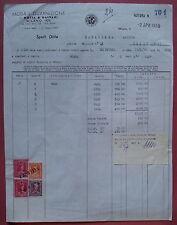 Milano 1955: Fattura su carta intestata Moda e Guarnizioni