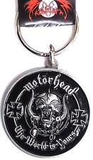 OFFICIAL LICENSED - MOTORHEAD - THE WORLD IS YOURS KEYCHAIN METAL KEYRING LEMMY