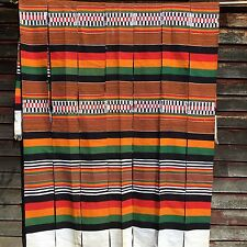 Vintage African Handwoven Strip Woven Wedding / Ceremonial Blanket Rug