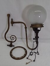 Antique WELSBACH GAS LAMP Wall Sconce with Glass Shade REFLEX Size No 1