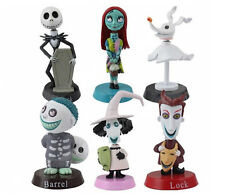 Il NIGHTMARE BEFORE CHRISTMAS Bobble-Head CAKE TOPPER Figure Set di 6