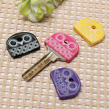 4pcs Owl Key Top Head Cover Cap Holder Keyring Phone Strap Keychain Key Ring