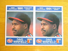 RARE! 1991 Canadian Post - UNCUT DOUBLE TEST PROOF - Dave Winfield #28 Angels