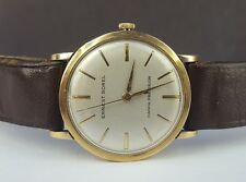 VINTAGE GENTS SOLID 9CT GOLD ERNEST BOREL MECHANICAL WRIST WATCH - GWO!