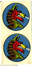 vtg impko water decal angry double dragon hot rod motorcycle helmet drag race
