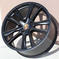 "SET(4)  22"" 22x10 5x130 BLACK WHEELS & TIRES PACKAGE PORSCHE CAYENNE VW TOUAREG"
