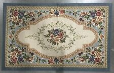 3X5 Kitchen Rug Mat Beige Ivory Blue Pink Washable Throw Flowers Floral Vines