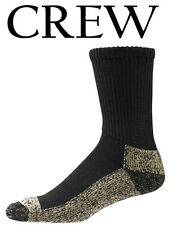 Aetrex Copper Sole Extra Cushion Non-Binding Crew Socks women men S2000X Black