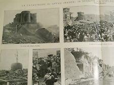 L'illustrazione italiana  1921 La catastrofe di OPPAU (Baden) Ludwigshafen