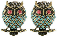Betsey Johnson Stud Owl Earrings NWT