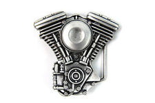 V-Twin/Silver Patina Belt Buckle for the Harley-Davidson Rider