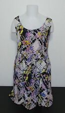 Urban Outfitters Silence + Noise Dress 100% Silk Sleeveless Geometric Print Sz L