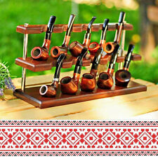 Stand Base Holder for 10 pipes for Smoking Tobacco Ash Wood Handmade