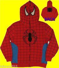 Spiderman Sweatshirt Jacket Hoodie Size 18-20 XXL New Childs Spider-man