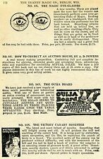 1924 small Print Ad of The Ouija Board Magic Eye-Glasses Victory Canary Songster