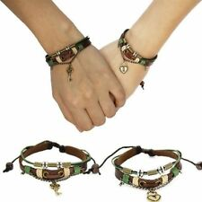 2 PCS His & Hers Lock and Key Couples Bracelet Lovers Braclet Friendship