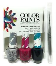 OPI Nail Lacquer - COLOR PAINTS set of 3 bottles (DD-P16)+ FREE Nail Art Brush