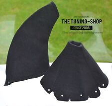 FOR MAZDA MX5 MK1 EUNOS 90-97 GEAR STICK HANDBRAKE GAITER COVER BLACK SUEDE NEW