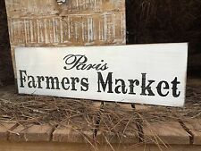 "Large Rustic Wood Sign - ""Paris Farmers Market"" -Fixer Upper, Vintage Shabby"