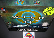 WILD 9 LIMITED EDITION BOX WITH T-SHIRT SONY PS1 PLAYSTATION 1 PAL GAME COMPLETE