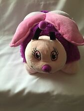"Butterfly Pink and Purple Pillow Pets 18"" Pillow EUC"