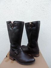 UGG CHANCERY BROWN BOMBER LEATHER SHEARLING LINED BOOTS, US 8/ EUR 39 ~ NEW