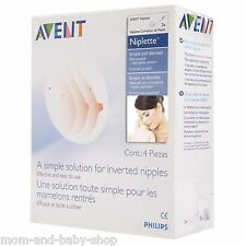 PHILIPS AVENT NIPLETTE TWIN PACK FLAT/ INVERTED BREAST NIPPLE BRA PAD SCF152/02